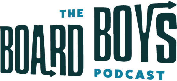 Logo for The Board Boys Podcast